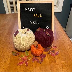 Homemade crochet fall decor pumpkins 🍁